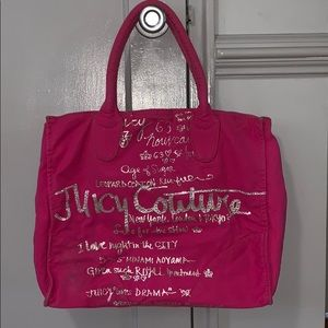 Juicy Couture hot pink tote